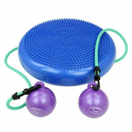 Carnegie H²O Balance Pilates Sitzkissen Toning Sport Fitness Koordination inkl. Widerstandsband Tube