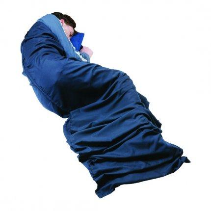 Trekmates Polyester/Cotton Sleeping Bag Liner Mummy - Polyester/Cotton Inlet für Mumien-Schlafsack blau 170g