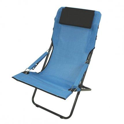 Fridani RCB 100 - Camping-Stuhl, Gartenstuhl mit Kopfpolster, 4-fach verstellbar, faltbar, 5800g