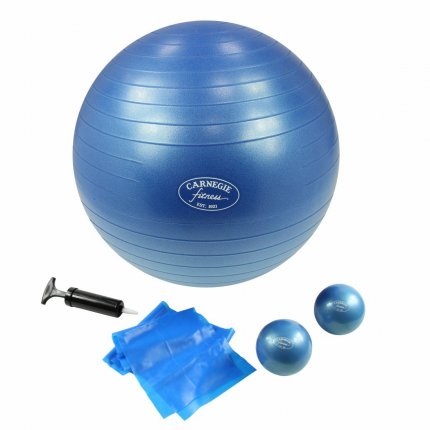 Carnegie Pilates Set Toning Bälle 450g Pilates Band 120cm Gymnastikball ø 65cm, Ideal für zu Hause