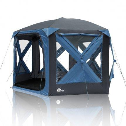 yourGEAR Pop Up Pavillon Levanzo Event Dome Shelter 8,5 m² Zelt für 4-6 Personen Familienzelt Stehhöhe Bodenwanne
