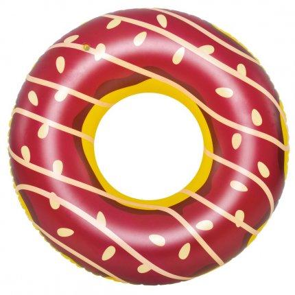 Jilong Schwimmring Big Brown Donut XL Wasserspielzeug Sitzreifen Poolsessel Schwimmsitz Ø 110x30 cm