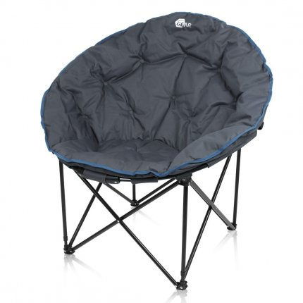 yourGEAR Campingstuhl Ortona XXL Moon Chair - faltbarer Outdoor Sessel - Klappstuhl ø 100cm max 130kg