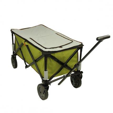 10T Cooler Trolley - faltbarer Bollerwagen, Strandwagen mit Kühlfach, max 75kg