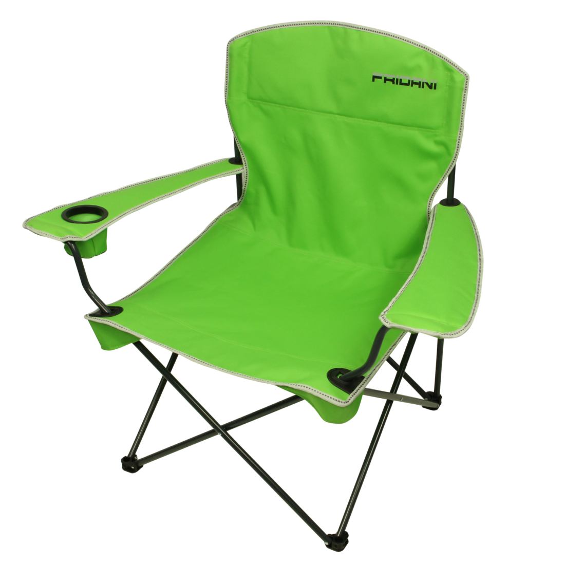 Fridani Camping Chair Fcg 90 Folding Chair Green Garden Chair With Armrests Drink Holder