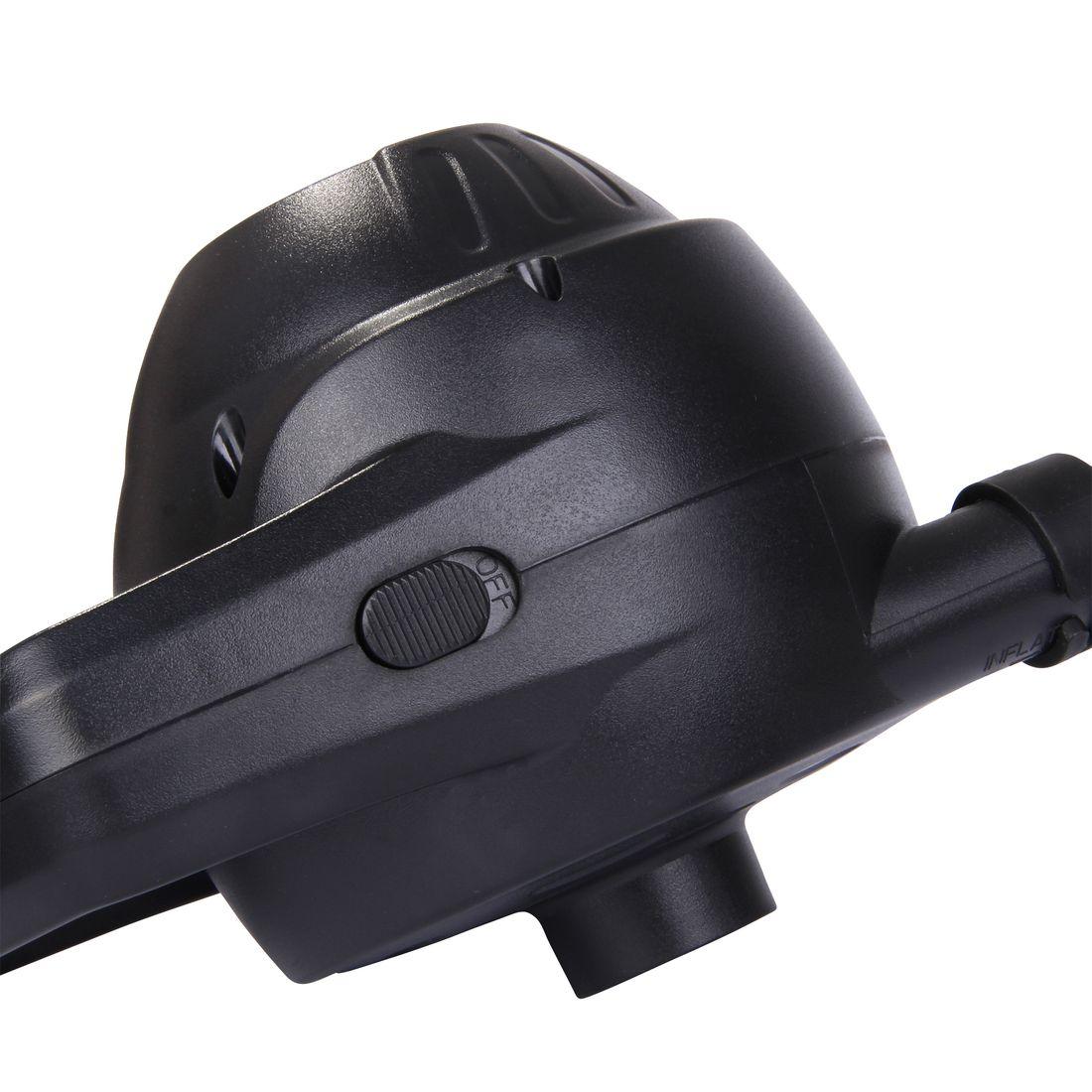 Adulto Bomba de Aire el/éctrica P110 Bomba el/éctrica de 12 V 110 W Compresor 2 Boquillas 450 L//min 1,1 PSI Negro Blueborn Unisex