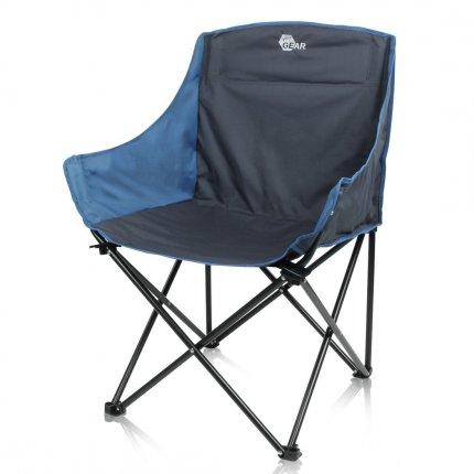 yourGEAR Bari Camping Faltstuhl - großer und bequemer Campingstuhl - XXL Outdoor Stuhl mit Getränkehalter - bis 140 kg