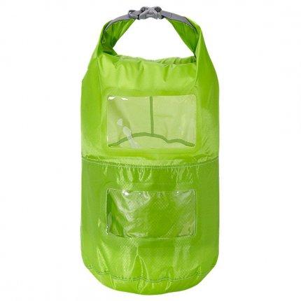 Trekmates Multi Tier Dry Lite Liner 15L - ultra leichter und kompakter Packsack mit Sichtfenster und Packfachaufteilung
