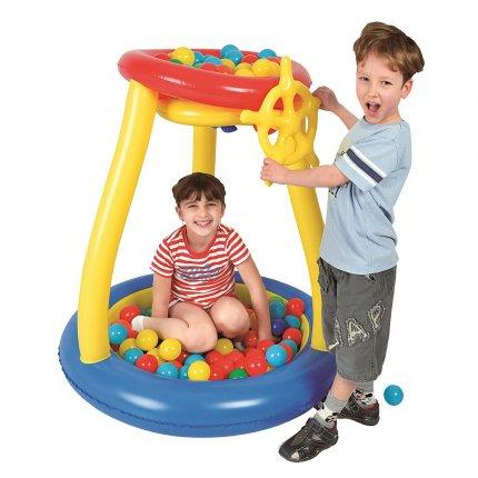 Jilong Pit Ball Play Pool - Bällebad, Ballpool für Kinder inkl. 25 Bälle, für Kinder ab 3 Jahre, Ø93x96 cm