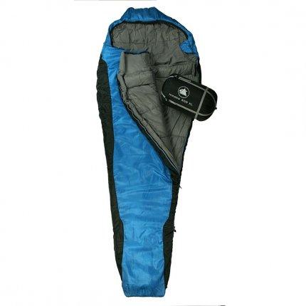 10T Innoko 300XL - Einzel Mumien-Schlafsack 230x85/55cm schwarz/blau Winterschlafsack bis -18°C
