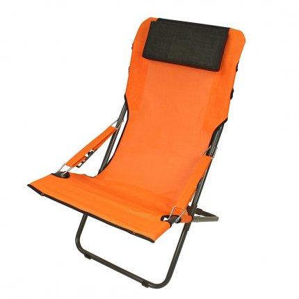 Fridani RCO 100 - Camping-Stuhl, Gartenstuhl mit Kopfpolster, 4-fach verstellbar, faltbar, 5800g