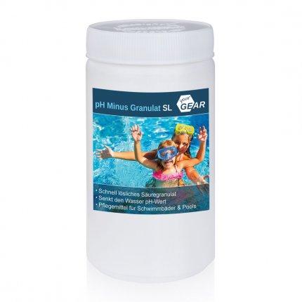 yourGEAR 1,5 kg pH Minus Granulat SL schnelllöslicher pH Senker zur optimalen ph-Wert Stabilisierung des Pool-Wassers